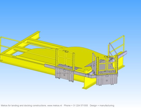 gangway docking landing constructions offshore subsea windenergy  mekos schagerbrug